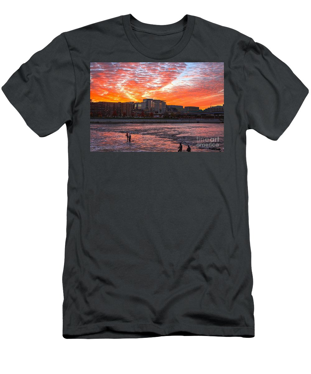 Sunrise Men's T-Shirt (Athletic Fit) featuring the photograph Good Morning Grand Rapids by Robert Pearson