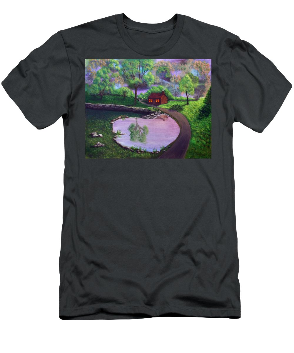 Light Men's T-Shirt (Athletic Fit) featuring the painting Good Spring Morning by Dawn Blair