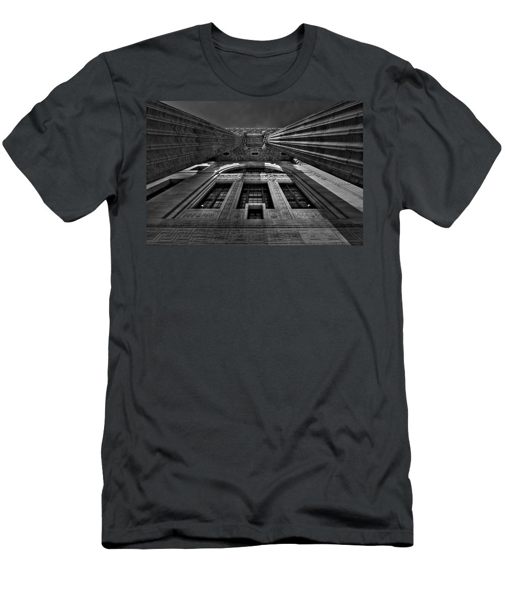 Albany Men's T-Shirt (Athletic Fit) featuring the photograph Gotham by Neil Shapiro