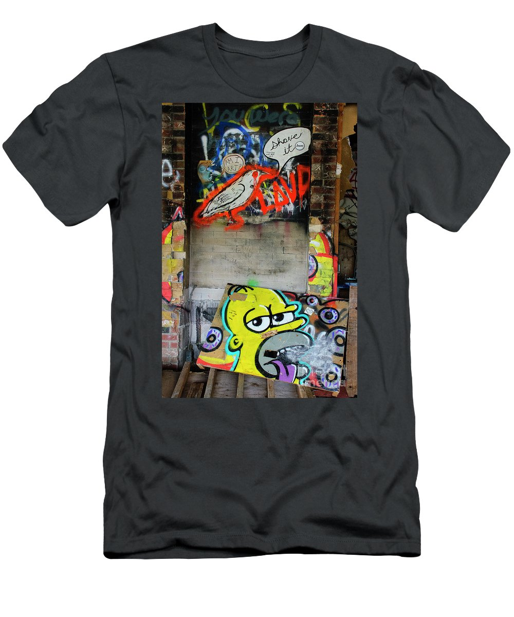 Graffiti Men's T-Shirt (Athletic Fit) featuring the photograph Graffiti 5 by Bob Christopher