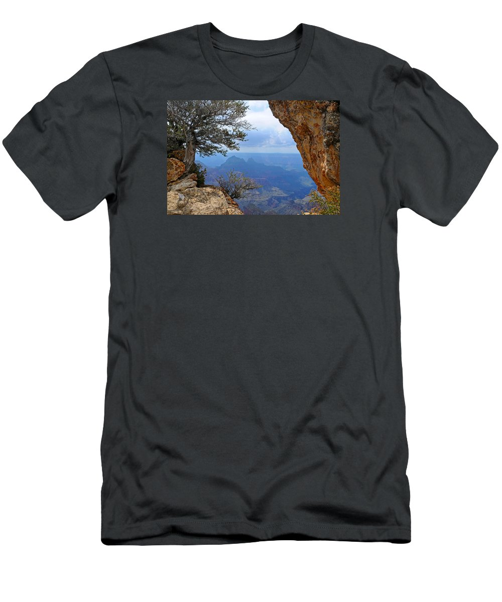 Grand Canyon North Rim T-Shirt featuring the photograph Grand Canyon North Rim Window in the Rock by Victoria Oldham