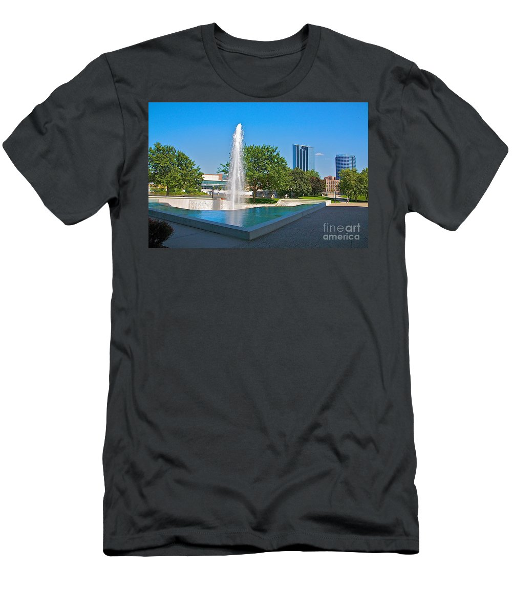 City Men's T-Shirt (Athletic Fit) featuring the photograph Grand Rapids Mi-7 by Robert Pearson