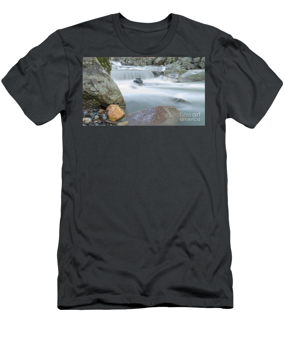 New Hampshire Men's T-Shirt (Athletic Fit) featuring the photograph Granite Pool by Along The Trail