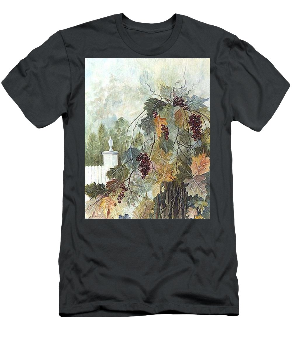 Fruit Men's T-Shirt (Athletic Fit) featuring the painting Grapevine Topiary by Ben Kiger