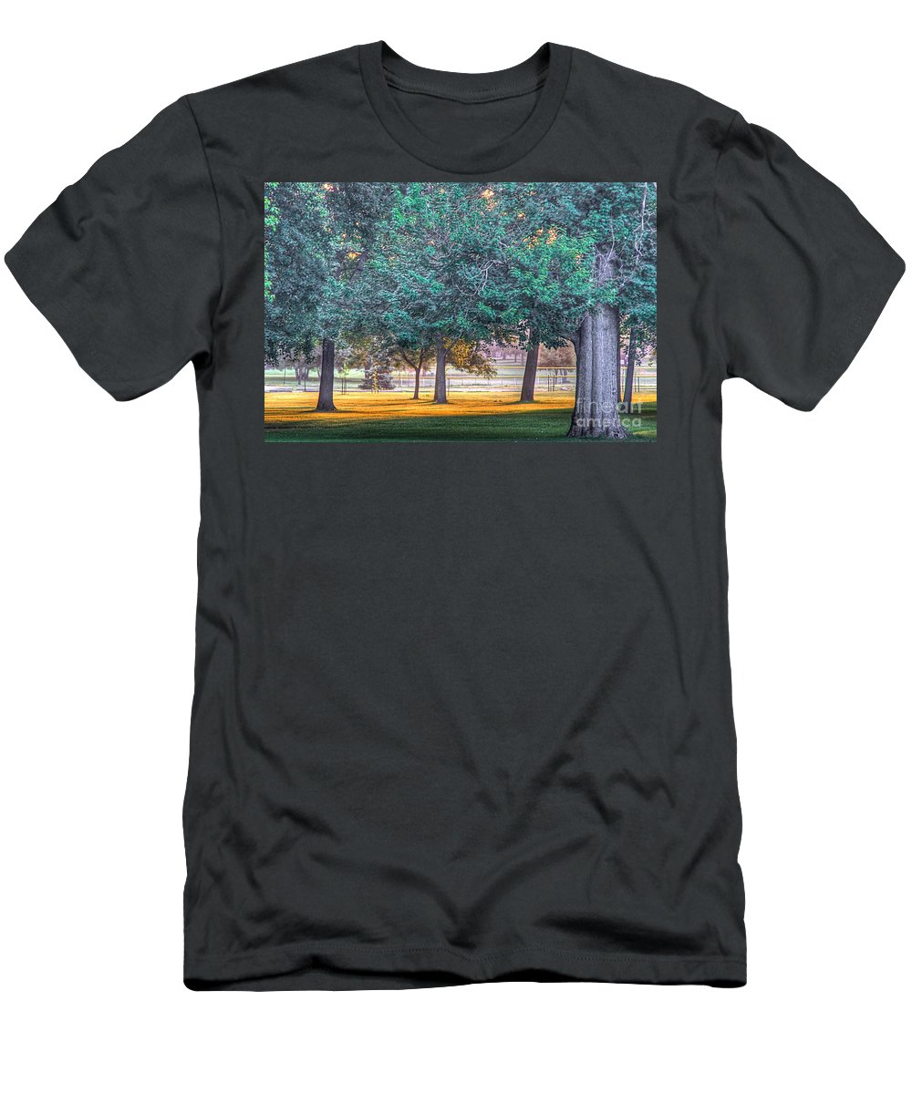 Sun Men's T-Shirt (Athletic Fit) featuring the photograph Grass Of Gold by Robert Pearson