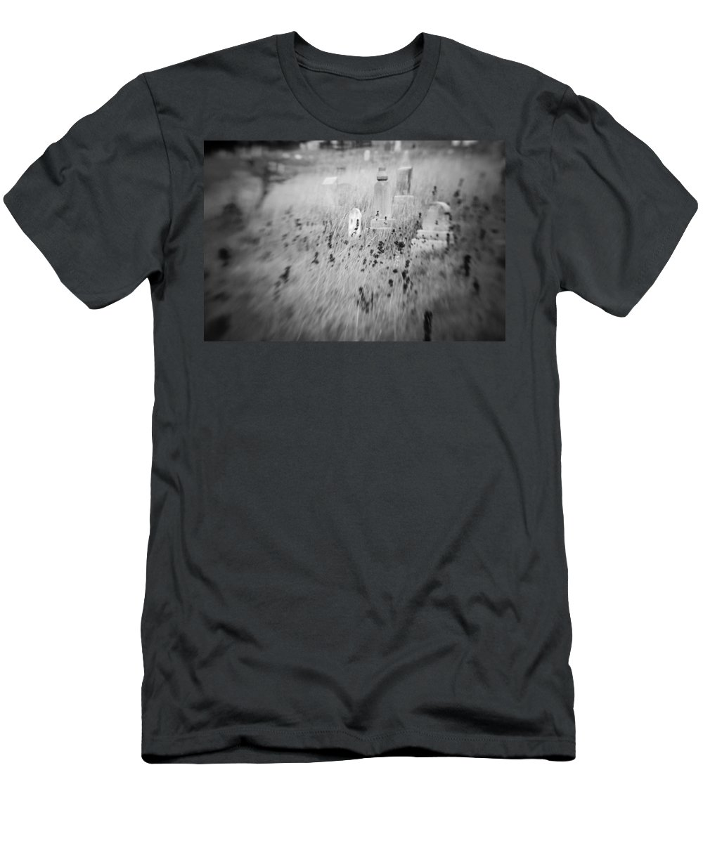 B&w Men's T-Shirt (Athletic Fit) featuring the photograph Graveyard 6793 by Timothy Bischoff