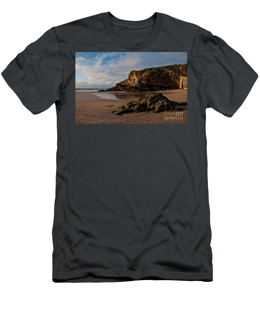 Beach Men's T-Shirt (Athletic Fit) featuring the photograph Great Western Beach by Rob Hawkins