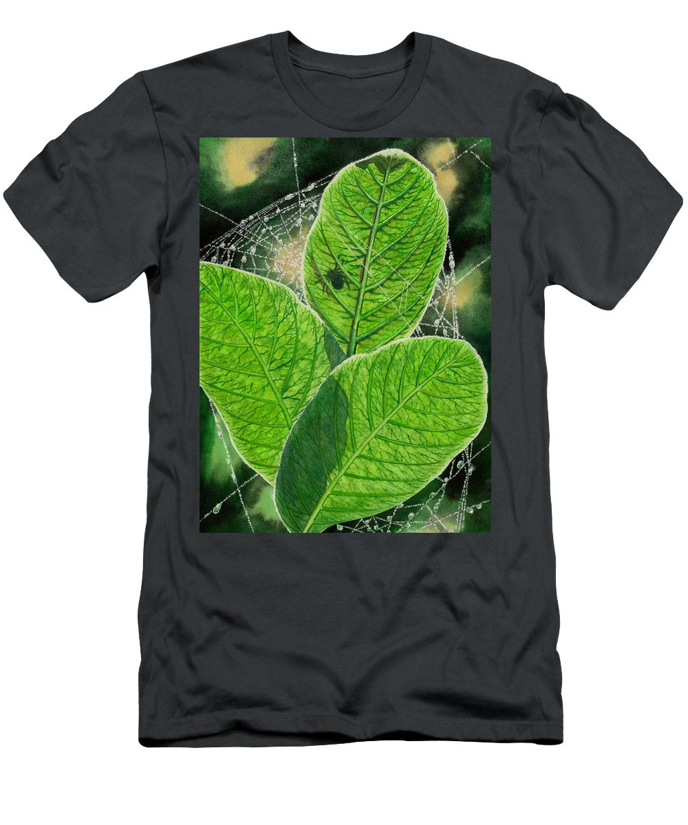 Spider Men's T-Shirt (Athletic Fit) featuring the painting Green by Catherine G McElroy