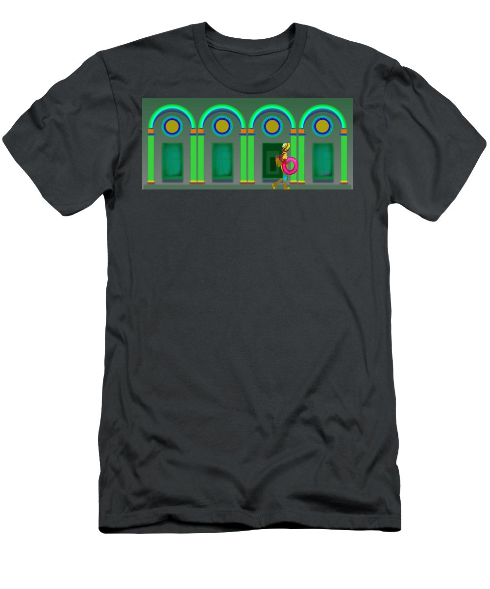 Classical Men's T-Shirt (Athletic Fit) featuring the painting Green Doors by Charles Stuart