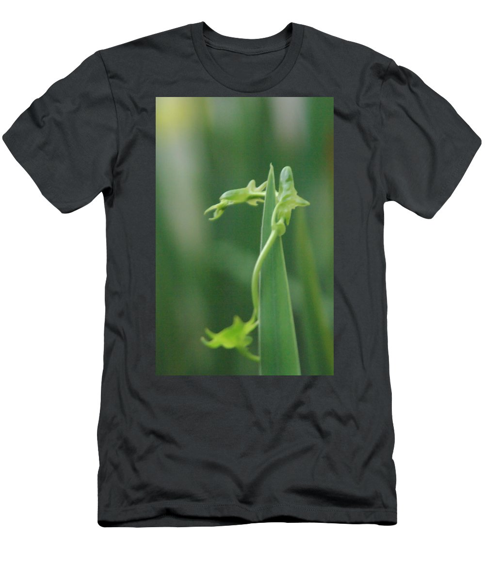 Dragon Men's T-Shirt (Athletic Fit) featuring the photograph Green Dragon by Donna Blackhall