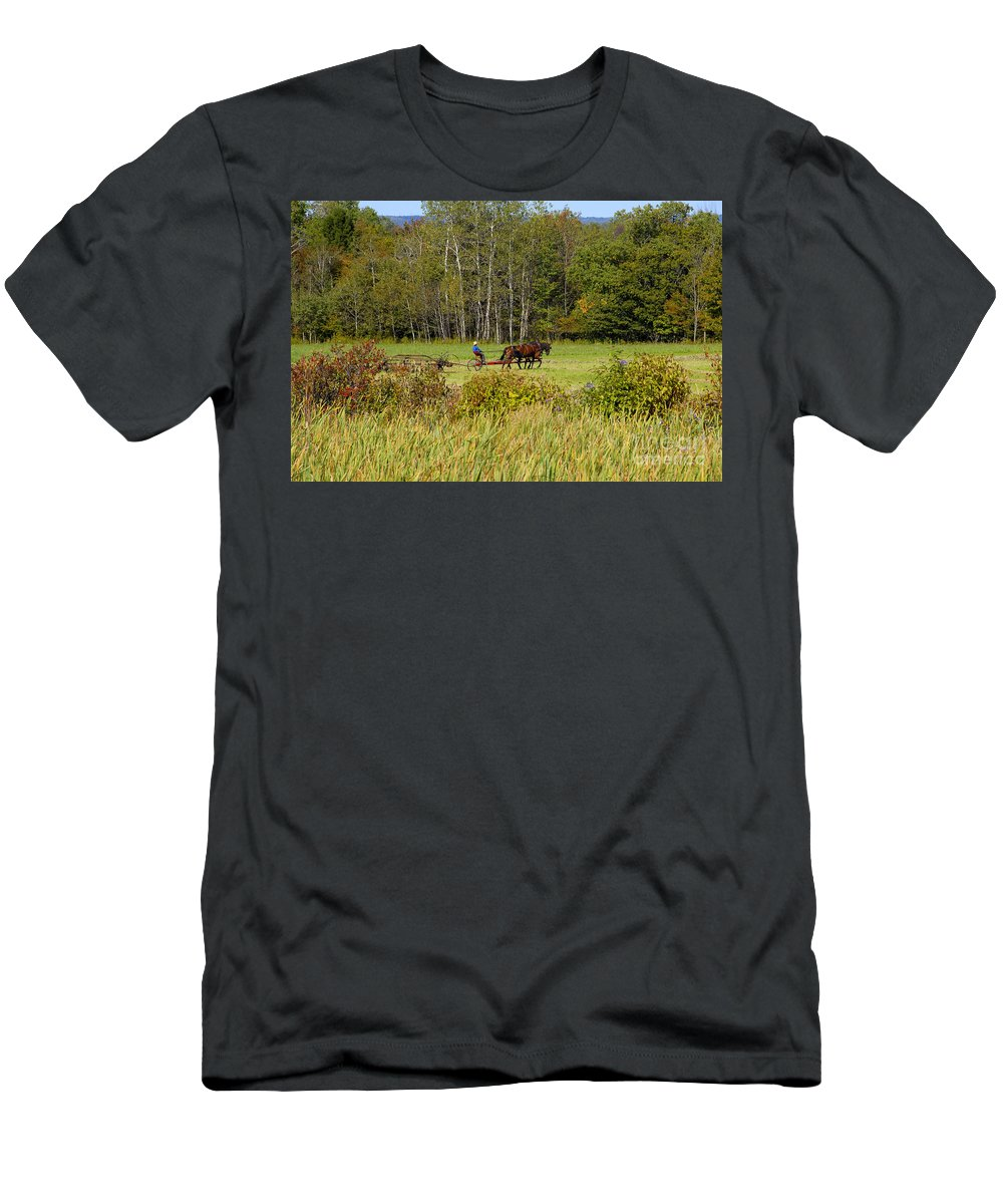 Green Farming Men's T-Shirt (Athletic Fit) featuring the photograph Green Farming by David Lee Thompson
