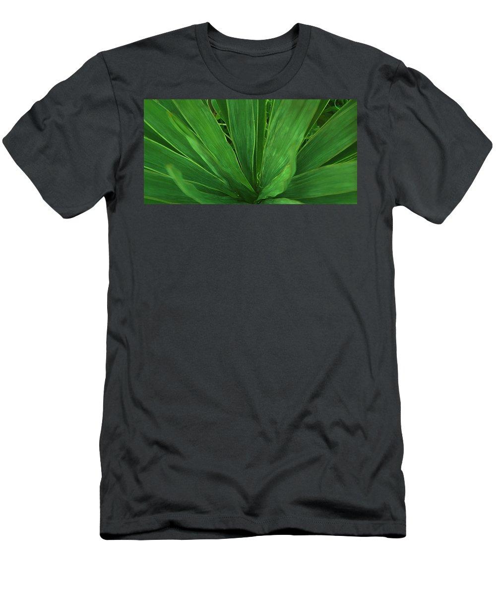 Green Plant T-Shirt featuring the photograph Green Glow by Linda Sannuti