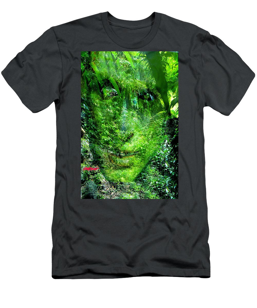 Nature Men's T-Shirt (Athletic Fit) featuring the digital art Green Man by Seth Weaver