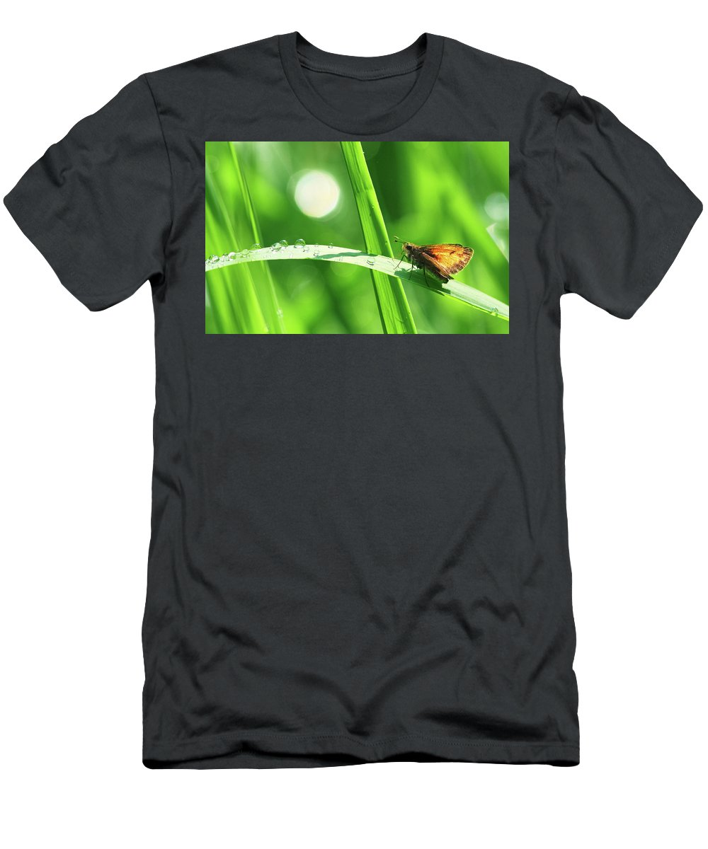 Green Men's T-Shirt (Athletic Fit) featuring the photograph Green by Mircea Costina Photography