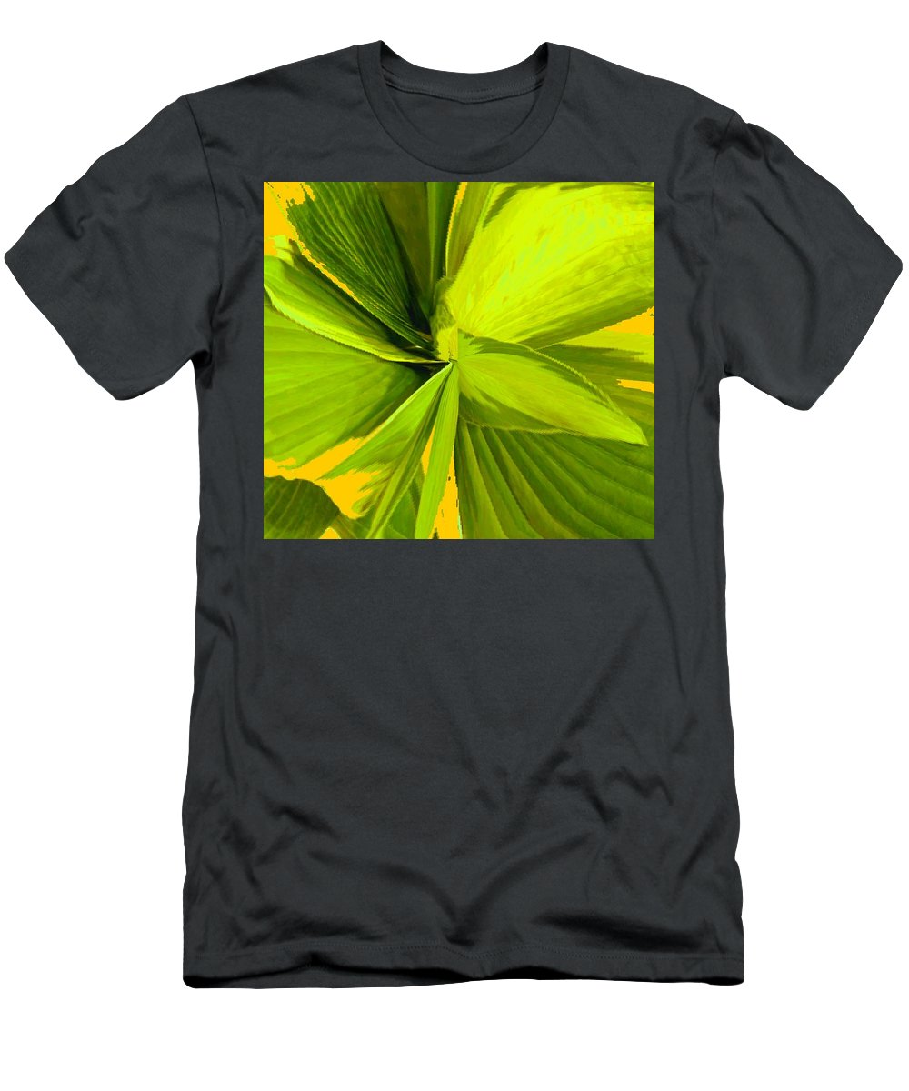 Plant Men's T-Shirt (Athletic Fit) featuring the photograph Green Mosaic by Ian MacDonald