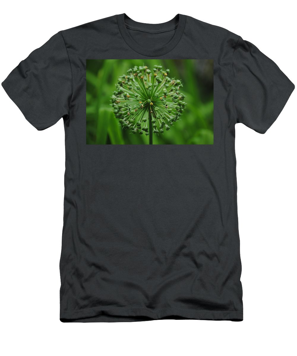 Green Men's T-Shirt (Athletic Fit) featuring the photograph Green On Green by Eric Liller