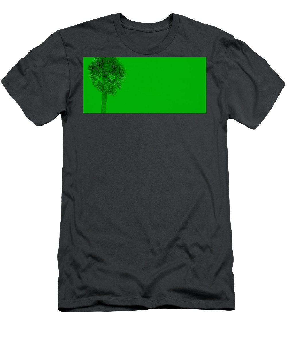Landscape Men's T-Shirt (Athletic Fit) featuring the photograph Green Palm by Ed Smith