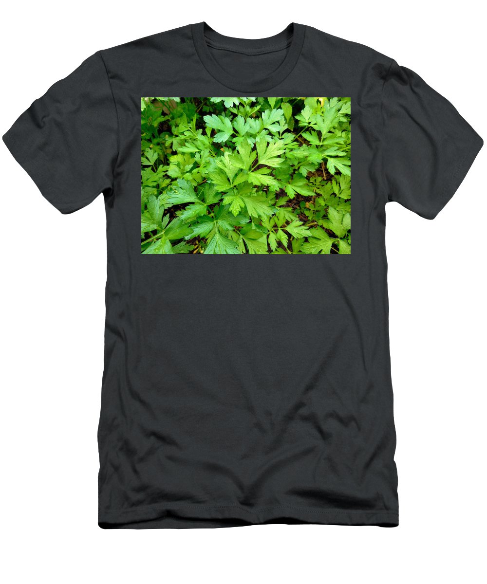 Parsley T-Shirt featuring the painting Green Parsley 3 by Jeelan Clark