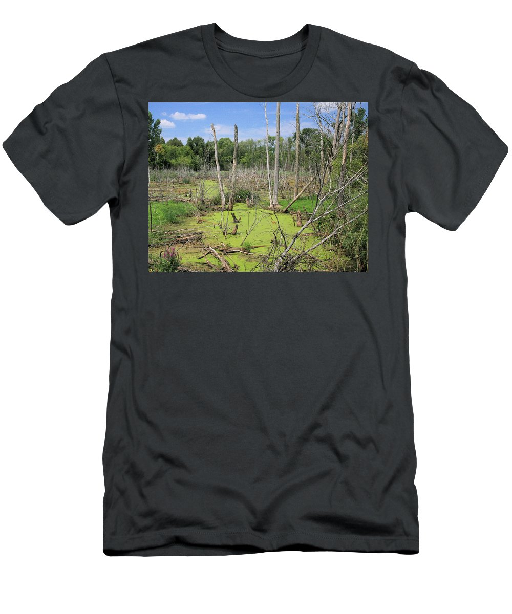 Landscape Men's T-Shirt (Athletic Fit) featuring the photograph Green Pea Soup by Robert Pearson