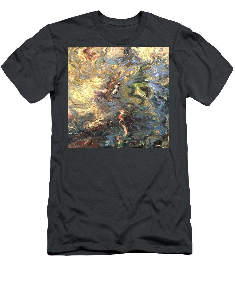 Green Men's T-Shirt (Athletic Fit) featuring the painting Green by Rick Nederlof