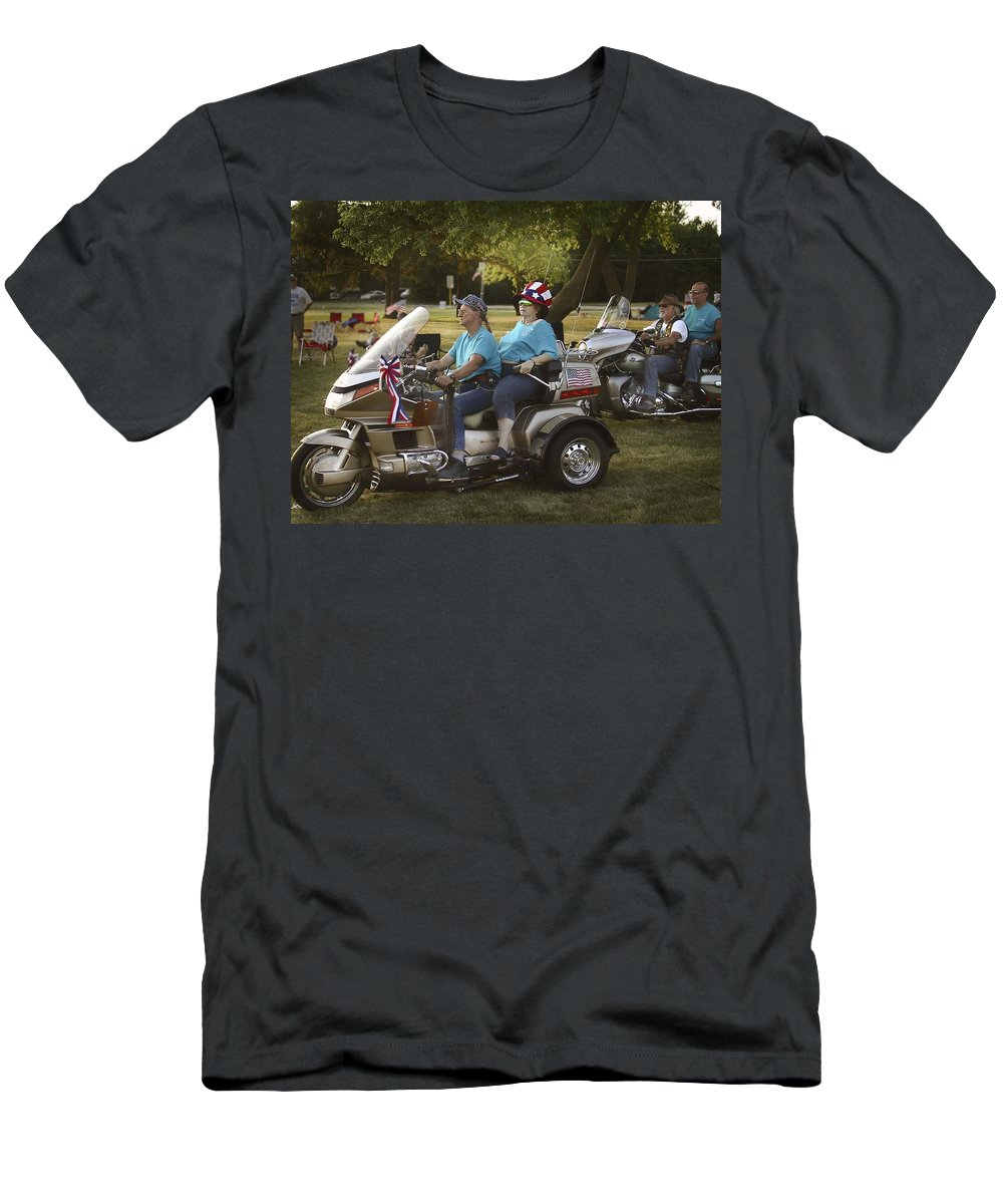 Fourth Of July Men's T-Shirt (Athletic Fit) featuring the photograph Green Sunglasses by John Hansen