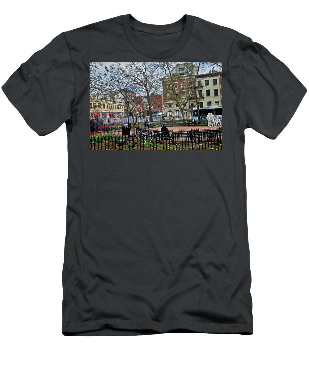 Greenwich Village Men's T-Shirt (Athletic Fit) featuring the photograph Greenwich Village New York City by Joan Reese