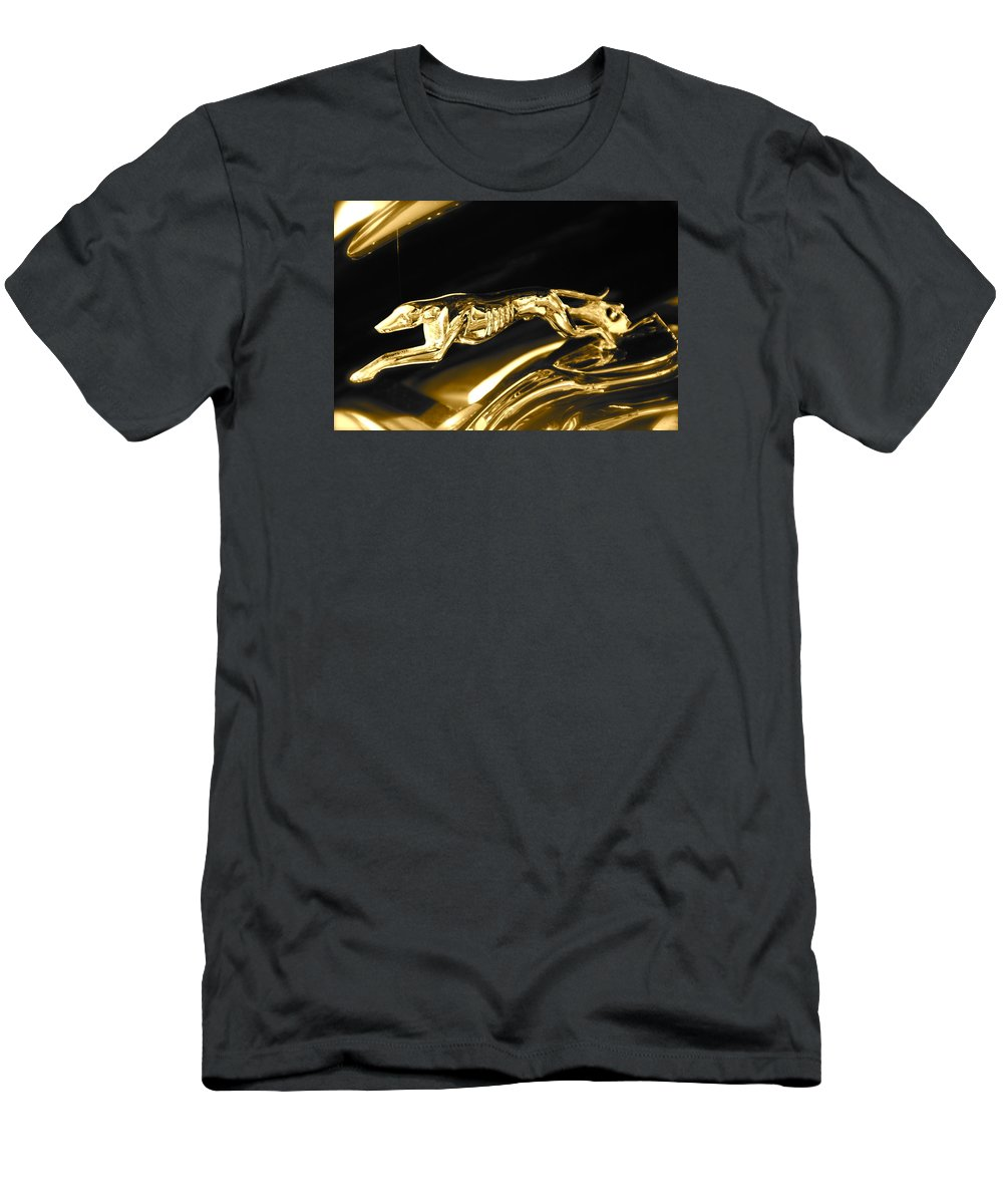 Greyhound T-Shirt featuring the photograph Greyhound hoood ornament by Toni Berry