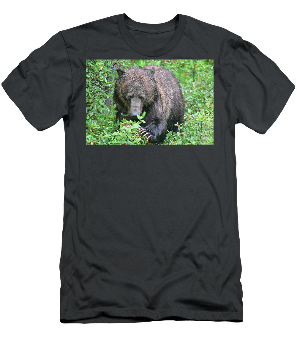 Deanna Cagle Men's T-Shirt (Athletic Fit) featuring the photograph Grizzly Claws by Deanna Cagle