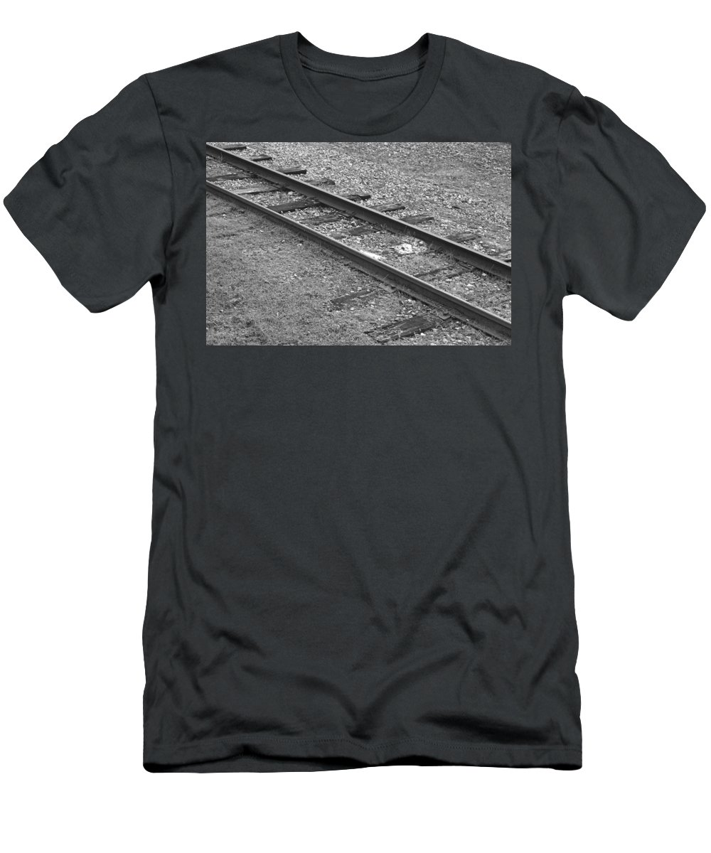 Railroad Men's T-Shirt (Athletic Fit) featuring the photograph Grown Over by Veronica Smith