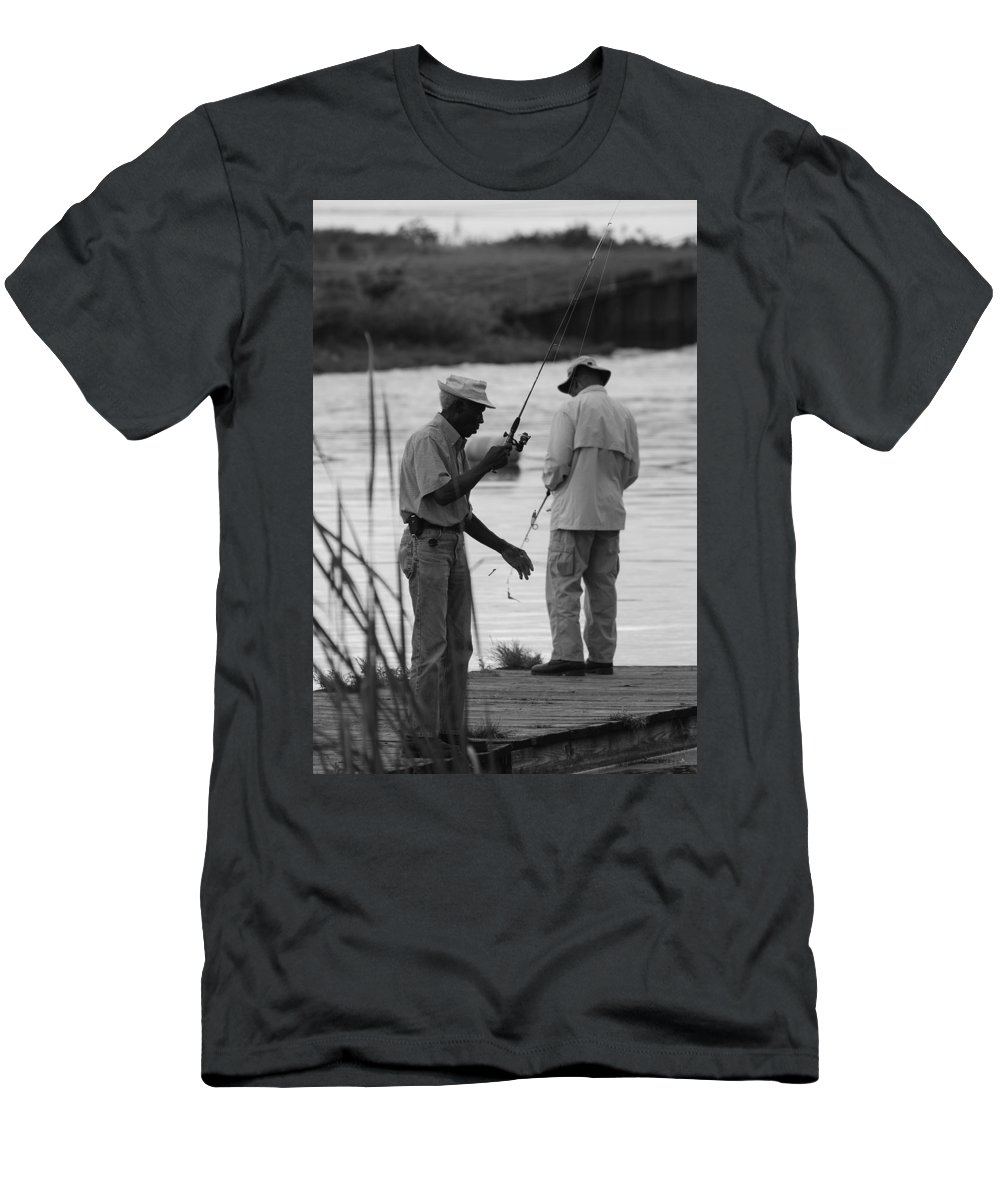 Men Men's T-Shirt (Athletic Fit) featuring the photograph Grumpy Old Men by Rob Hans