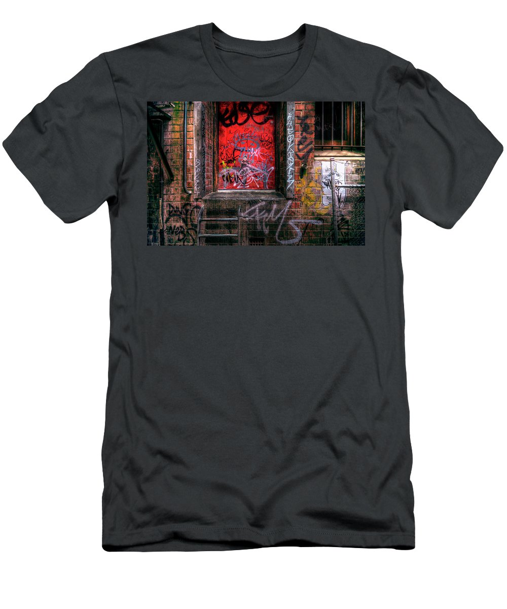 Grunge Men's T-Shirt (Athletic Fit) featuring the photograph Grunge Junkies Unite by Wayne Sherriff