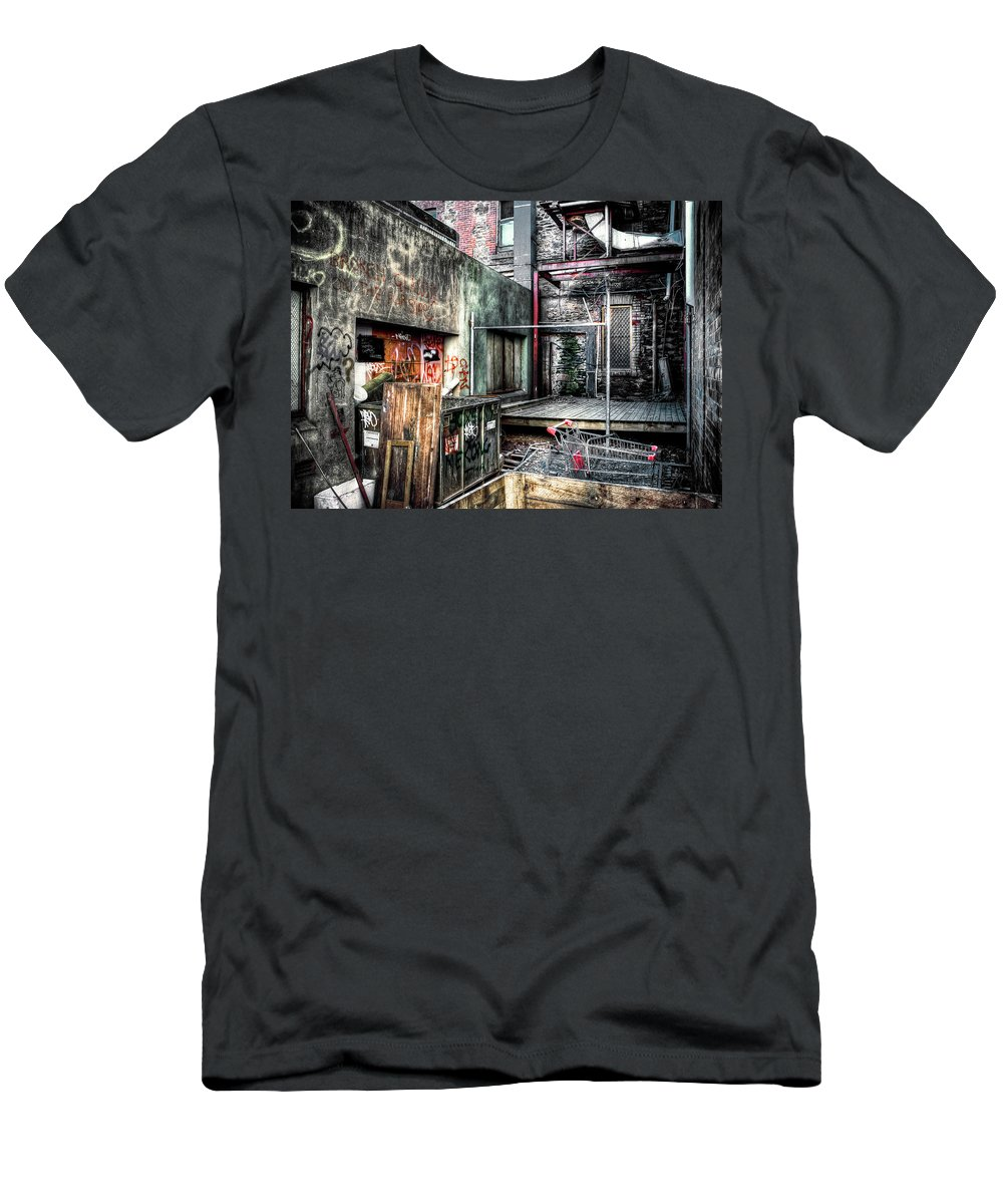 City Men's T-Shirt (Athletic Fit) featuring the photograph Grungefest by Wayne Sherriff
