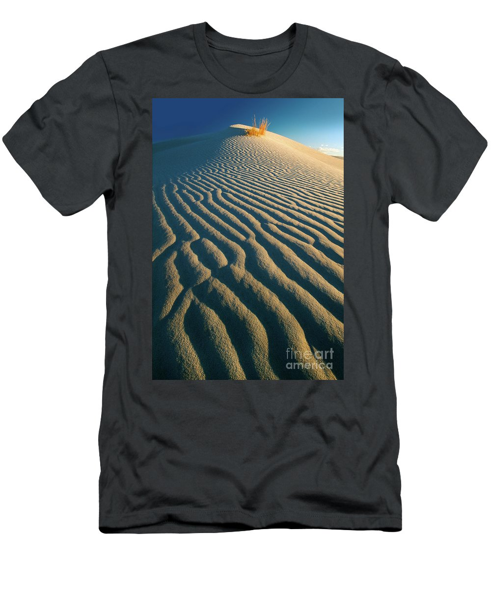 America Men's T-Shirt (Athletic Fit) featuring the photograph Guadalupe Dunes by Inge Johnsson