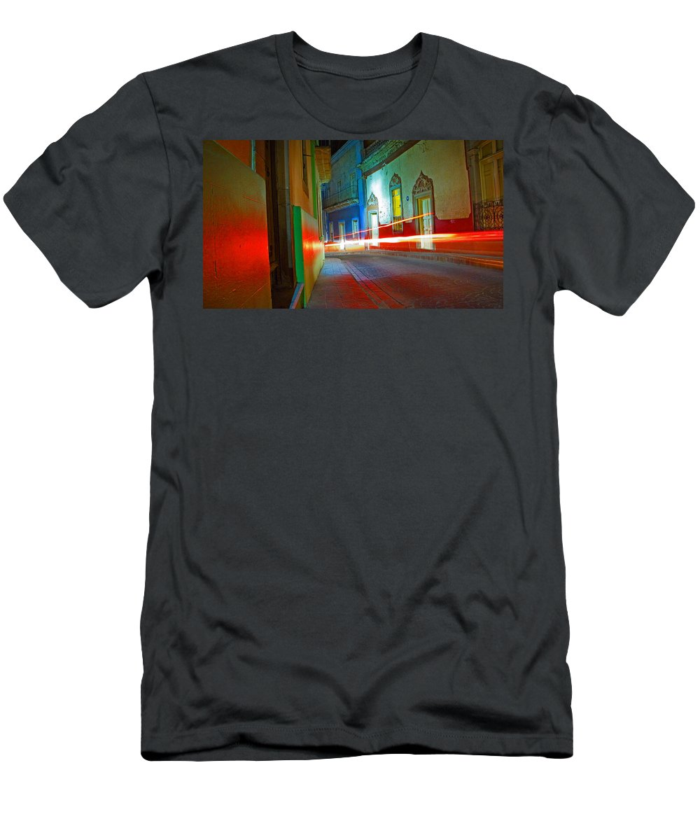 Shadow Men's T-Shirt (Athletic Fit) featuring the photograph Guanajuato Night by Skip Hunt