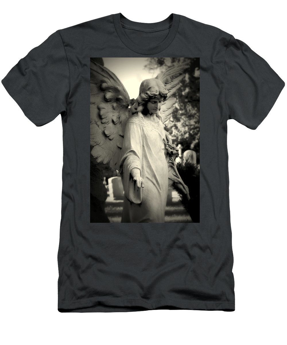 Guardian Angel Men's T-Shirt (Athletic Fit) featuring the photograph Guardian Angel Watching Over by James DeFazio