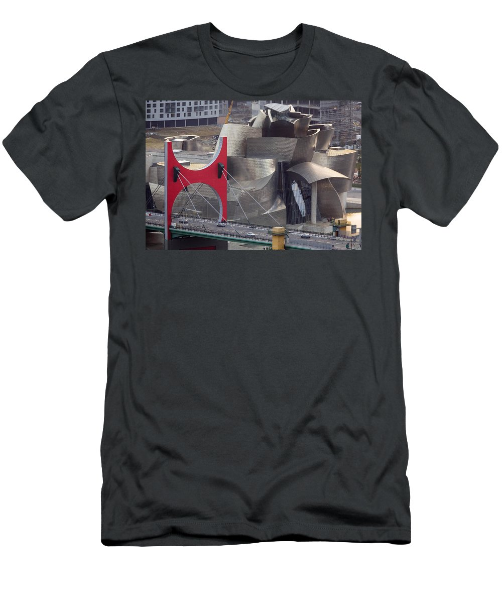 Spain Men's T-Shirt (Athletic Fit) featuring the photograph Guggenheim Bilbao Museum IIi by Rafa Rivas