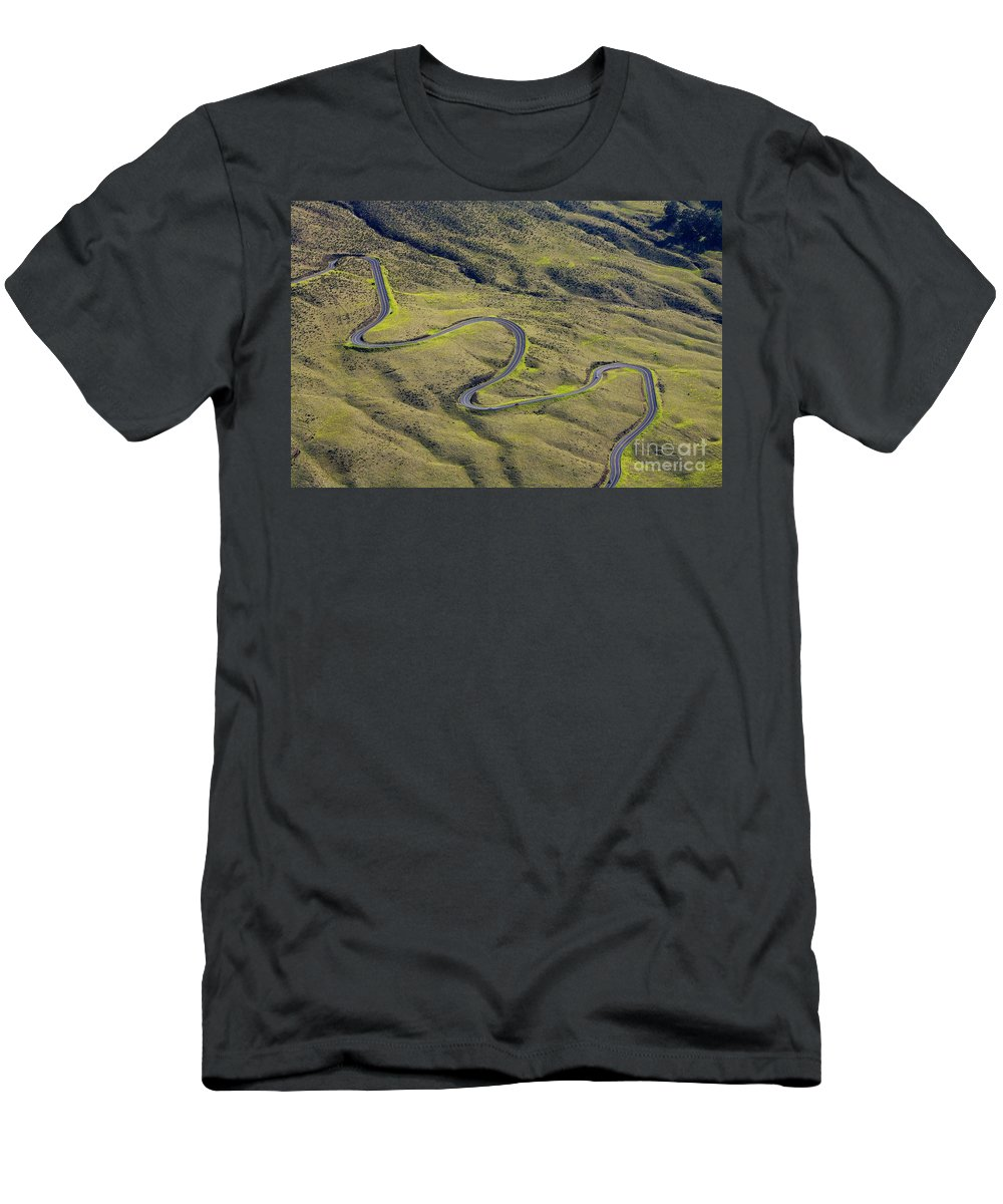 Above Men's T-Shirt (Athletic Fit) featuring the photograph Haleakala Highway by Ron Dahlquist - Printscapes