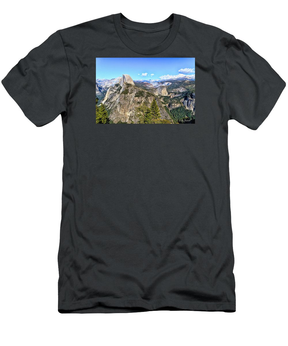 California Men's T-Shirt (Athletic Fit) featuring the photograph Half Dome by Leon Roland