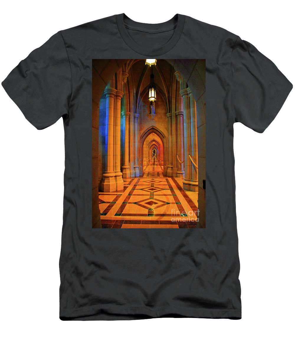 Washington Men's T-Shirt (Athletic Fit) featuring the photograph Hall Of The Cathedral by Jost Houk