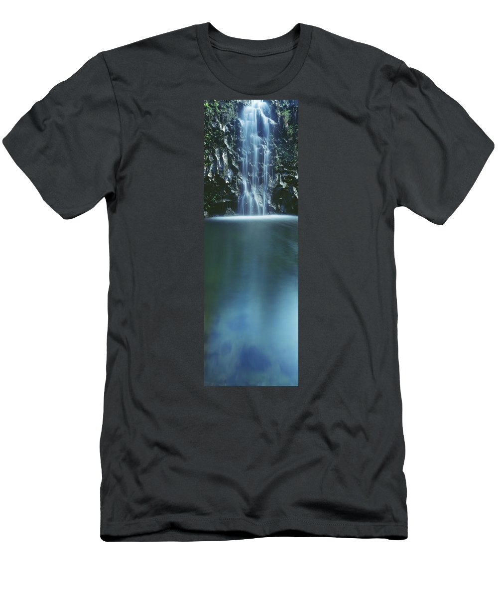 Active Men's T-Shirt (Athletic Fit) featuring the photograph Hana, Cascading Waterfall by Carl Shaneff - Printscapes