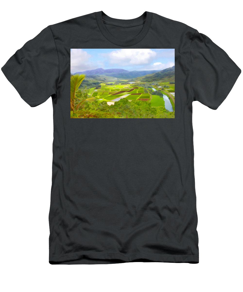 Hawaii Men's T-Shirt (Athletic Fit) featuring the photograph Hanalai by Kurt Van Wagner