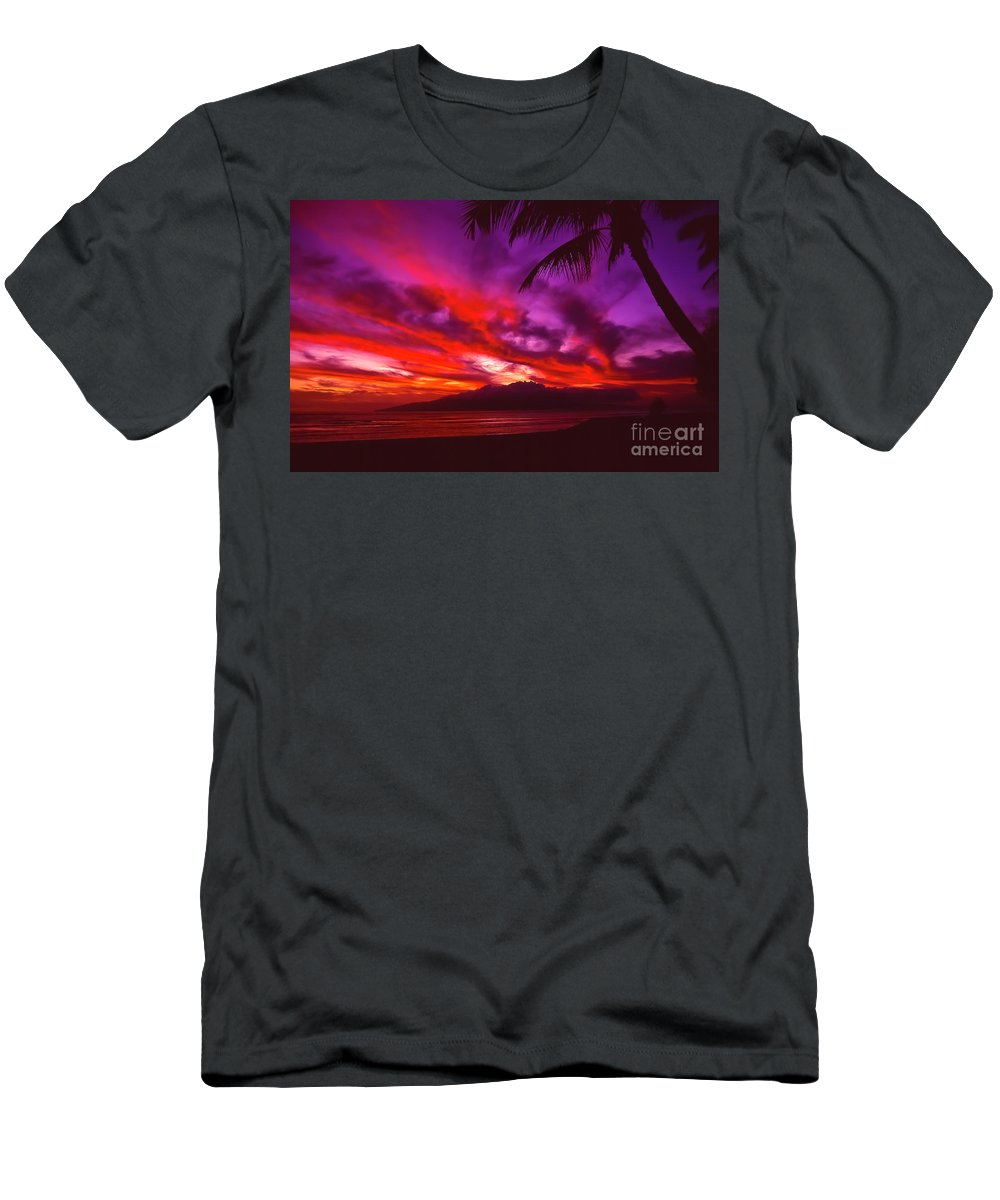 Landscapes T-Shirt featuring the photograph Hand of Fire by Jim Cazel