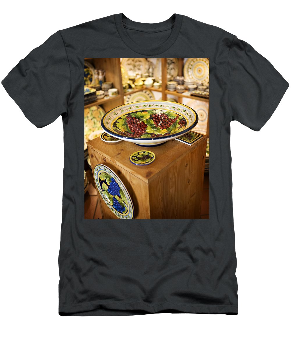 Hand Painted Men's T-Shirt (Athletic Fit) featuring the photograph Hand Painted Dishes by Marilyn Hunt