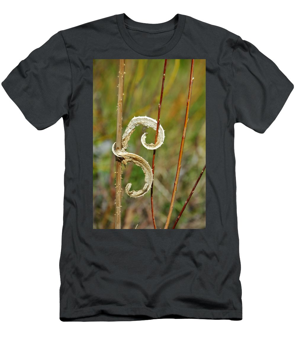 Botanical Men's T-Shirt (Athletic Fit) featuring the photograph Handcuffed by Donna Blackhall