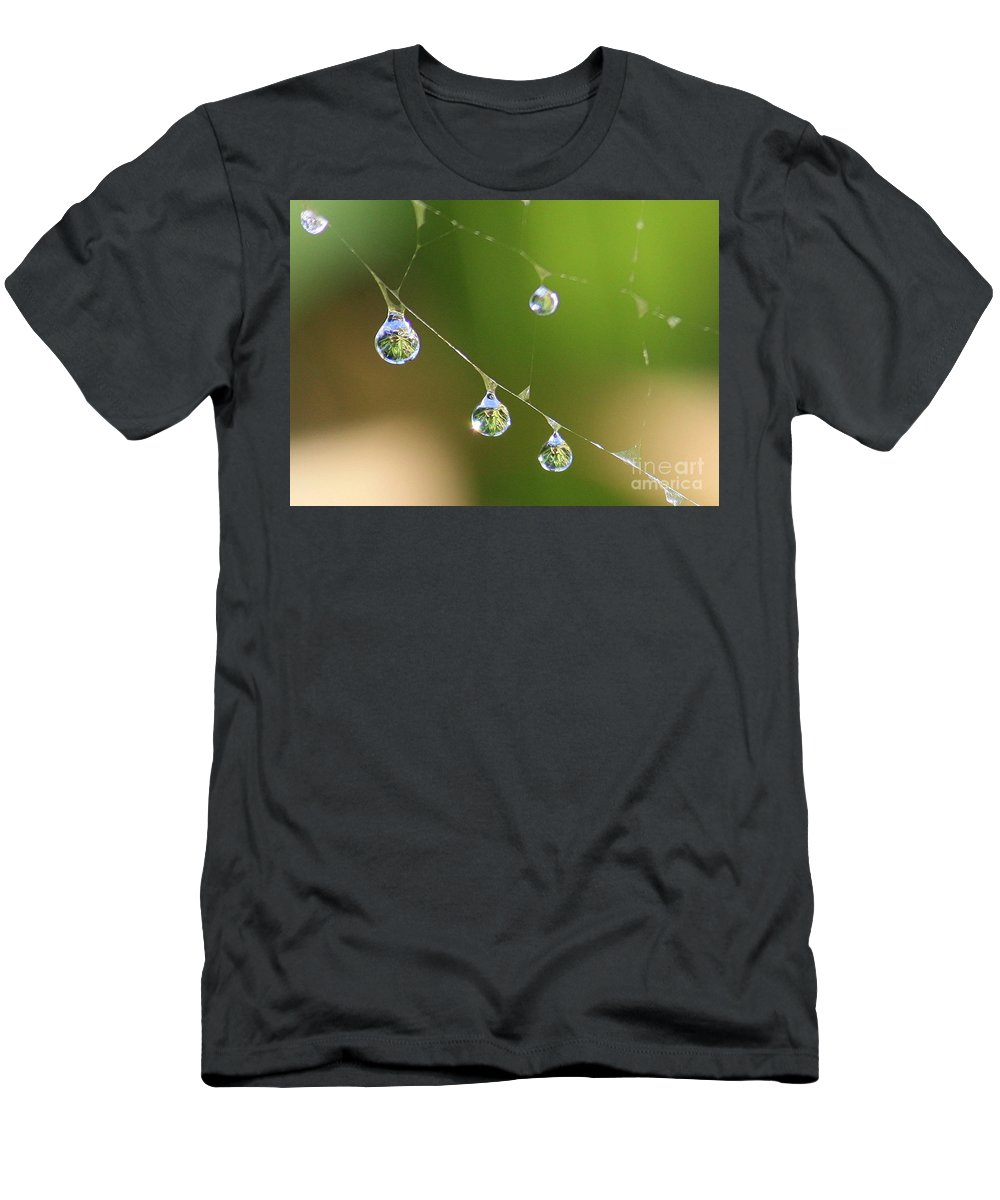 Dew Drops Men's T-Shirt (Athletic Fit) featuring the photograph Hanging Plants by Carol Groenen