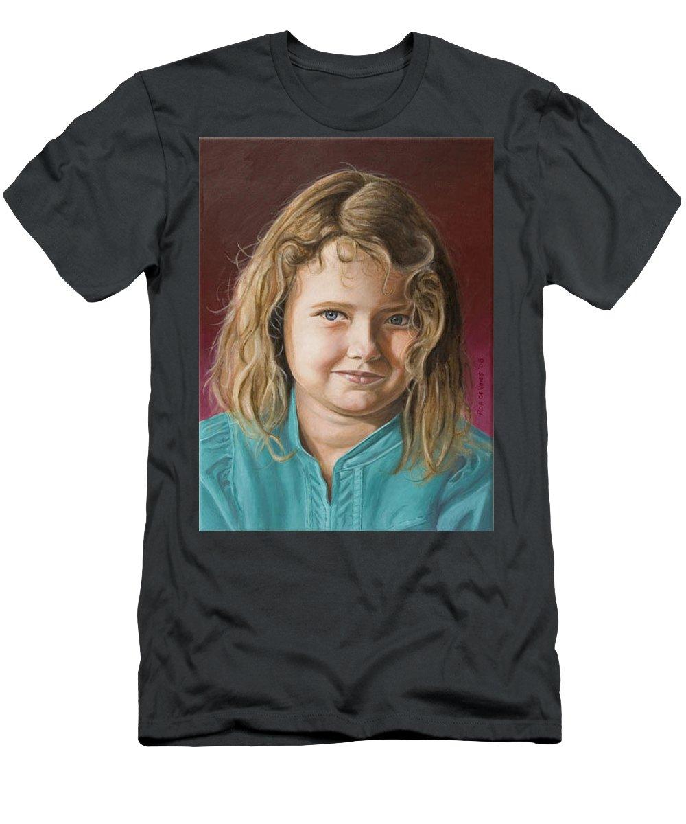 Portrait Men's T-Shirt (Athletic Fit) featuring the painting Hanna by Rob De Vries