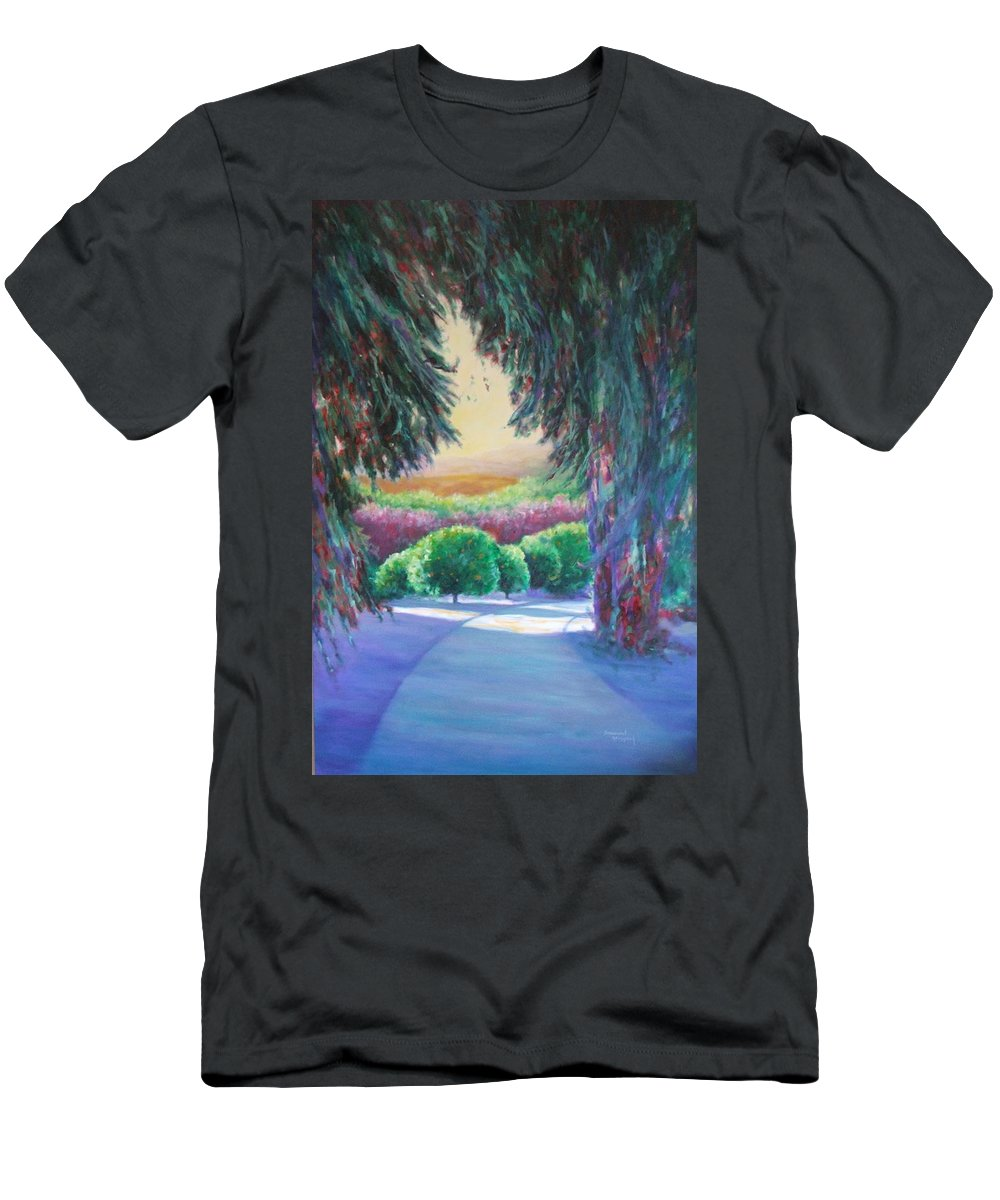 Landscape Men's T-Shirt (Athletic Fit) featuring the painting Happily Ever After by Shannon Grissom