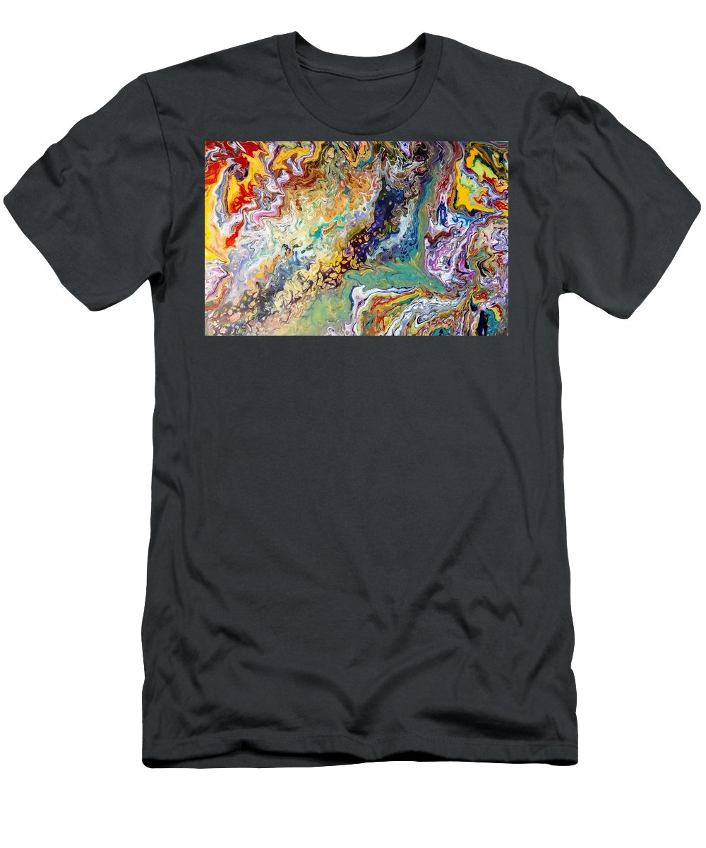 Pour T-Shirt featuring the painting Happiness of color by Valerie Josi