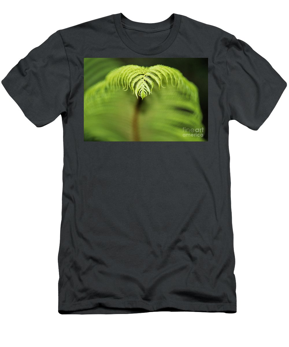 Abstract Men's T-Shirt (Athletic Fit) featuring the photograph Hapuu Fern by William Waterfall - Printscapes