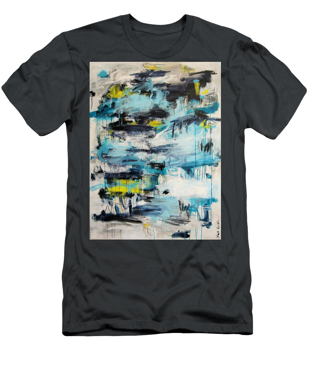 Abstract Men's T-Shirt (Athletic Fit) featuring the painting Hard Pill To Swallow by Kathryn Crosby